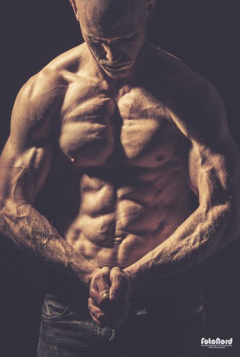 muscular bodybuilder torso