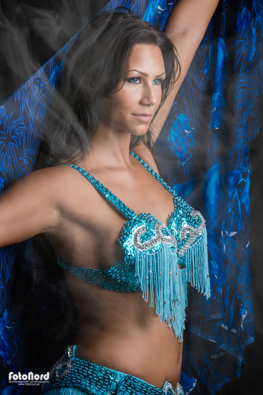 brunette belly dancer