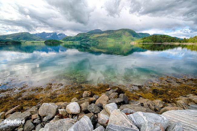 fjord landscape in Geiranger, Norway