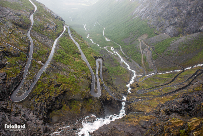 Trollstigen road in Geiranger, Norway.