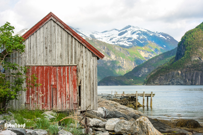 Fjord mountain landscape in Geiranger, Norway