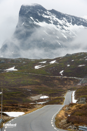 Trollstigen, the famous road in Geiranger, Norway