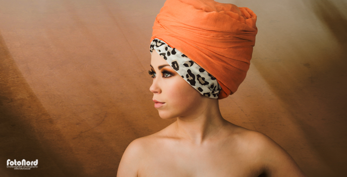 beauty with headscarf