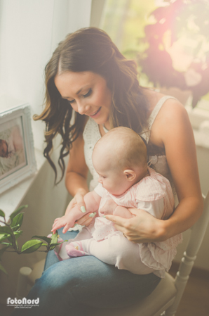 young mother and her baby daughter