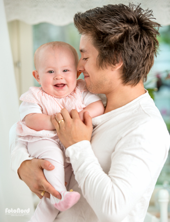 young father and his baby daughter