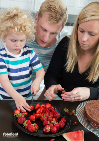 family cooking with children