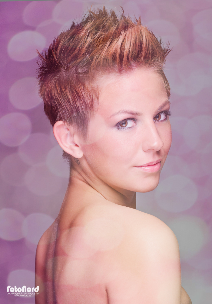 beauty shot of shorthaired girl