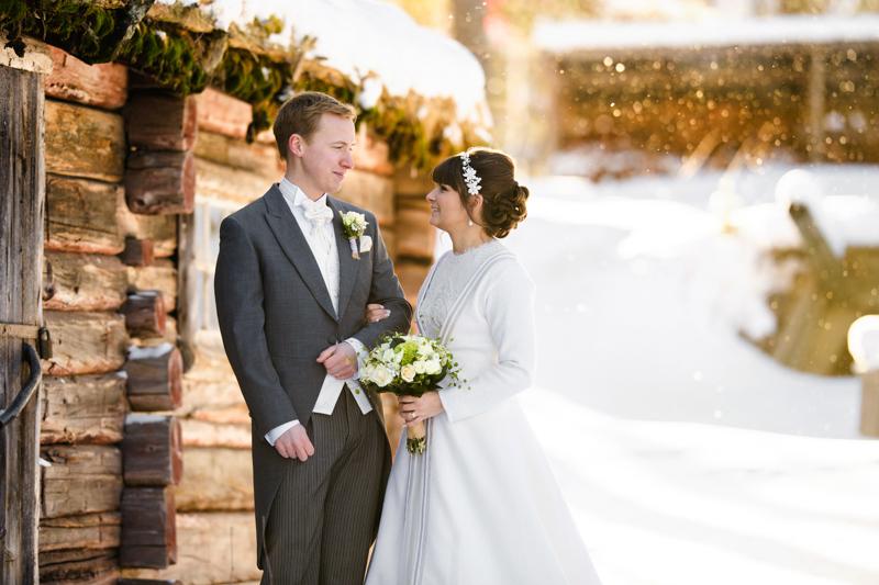 Vinterbröllop på Gammplatsen i Lycksele