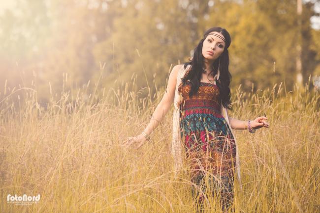 Bohemian hippie fashion