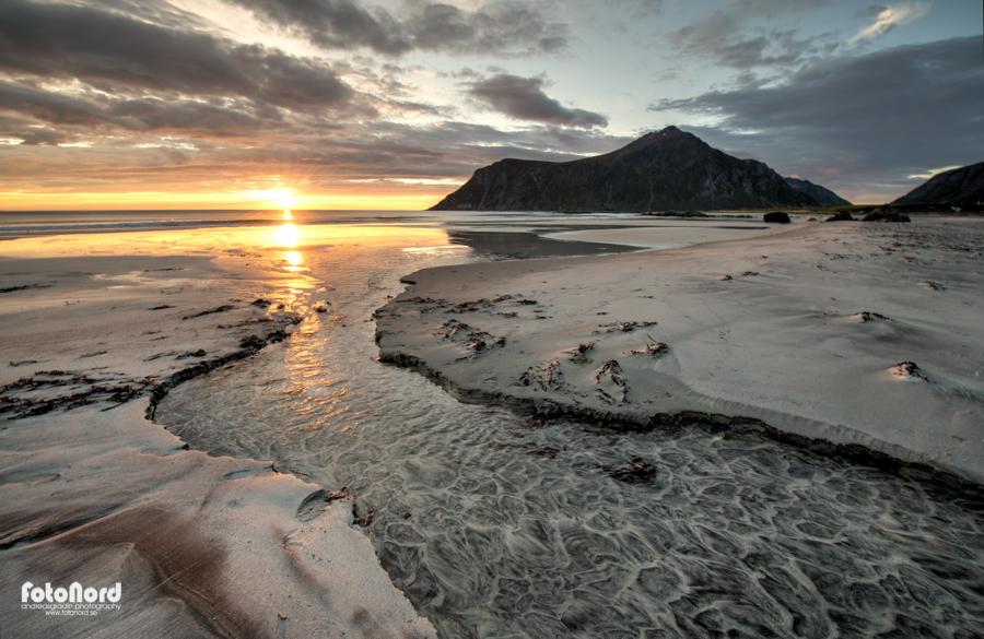 Norwegian sunset scenery