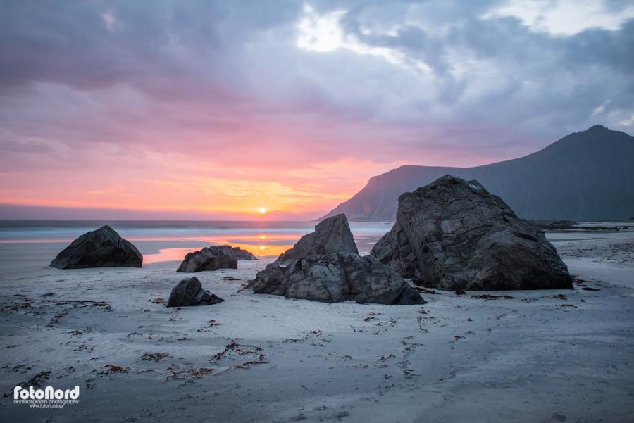 Lofoten beach. Norway