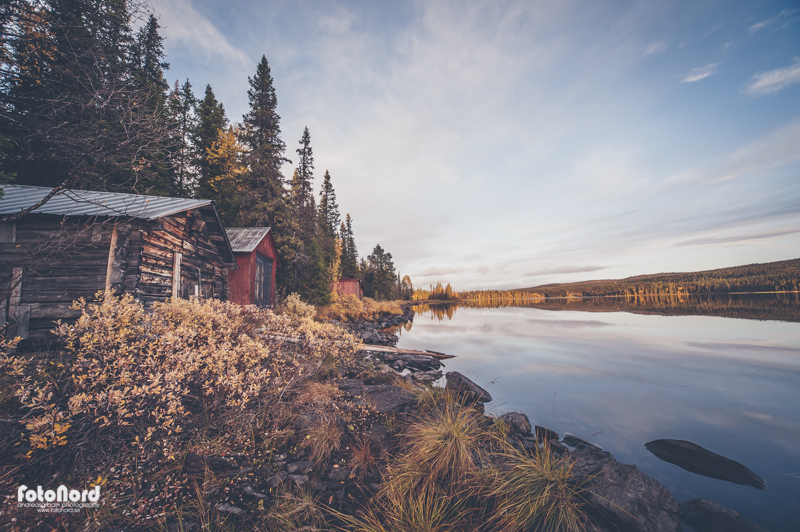 Northern lake scenery