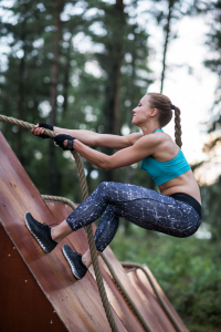 outdoor training with fit female
