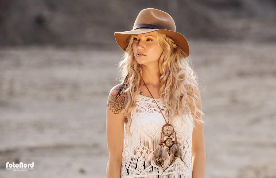bohemian blonde beauty
